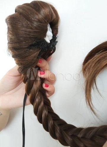 Women's Light Brown Braid Horse-tail