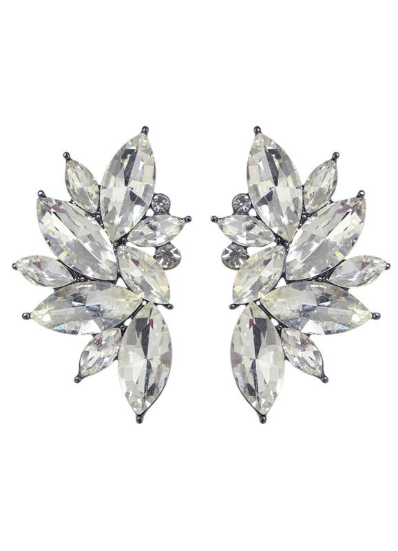 Rhinestone Floral Ear Cuff