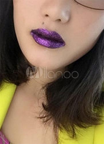 Rouge à Lèvres Violet Foncé De La Femme