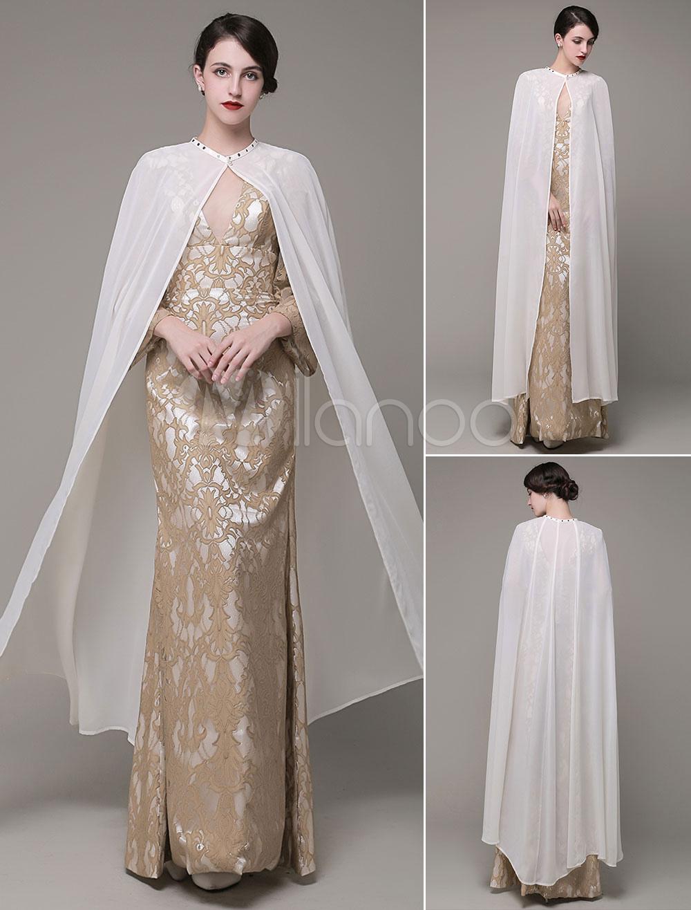 Long Wedding Wrap Jewel Applique Wedding Shawl