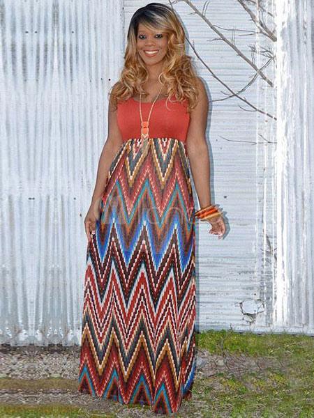 Print Maxi Dress for Woman