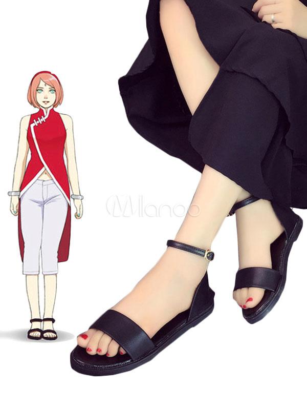 Boruto Naruto the Movie Haruno Sakura Cosplay Shoes Anime Black Saldal  Halloween