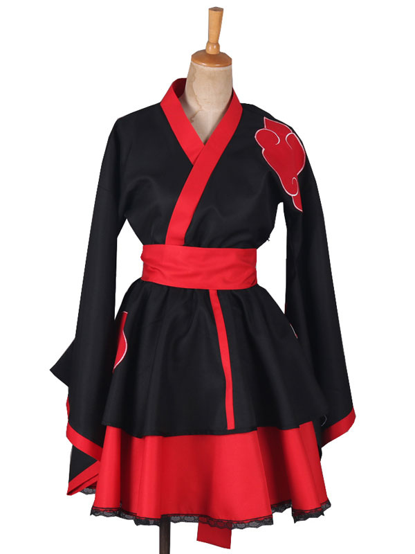 Naruto Akatsuki Lolita Dress Cosplay Costume Halloween
