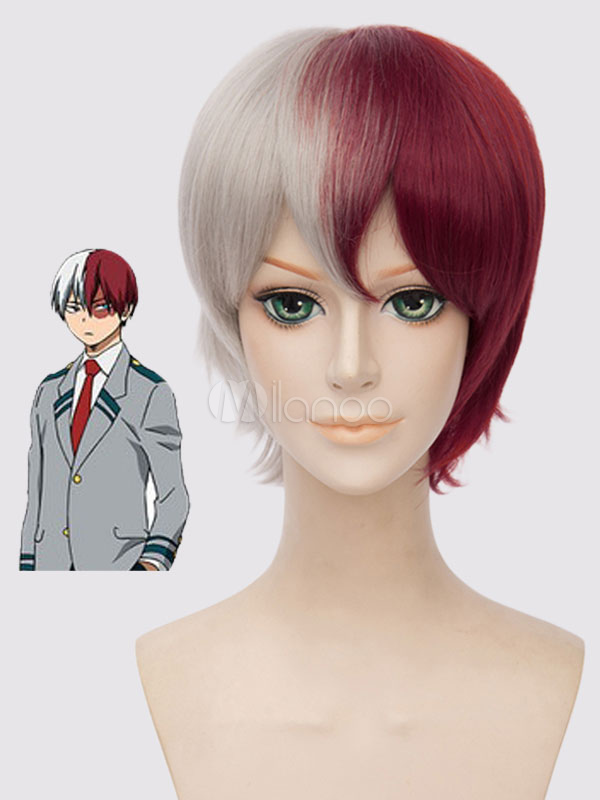 Buy Boku No Hero Academia Boku No Hero Academia BNHA Todoroki Shouto Cosplay Wig Halloween for $17.99 in Milanoo store