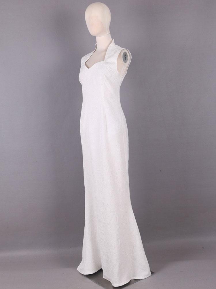 New Final Fantasy XV Lunafreya Nox Fleuret Princess White Dress Cosplay