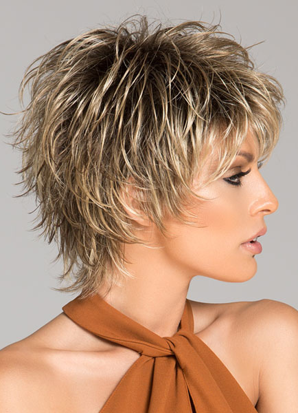 Women Short Wigs 2018 Flaxen Wave Curly Tousled Synthetic