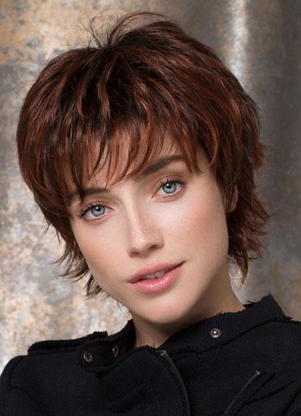 Women's Short Wigs Mahogany Deep Wave Curly Full Wigs