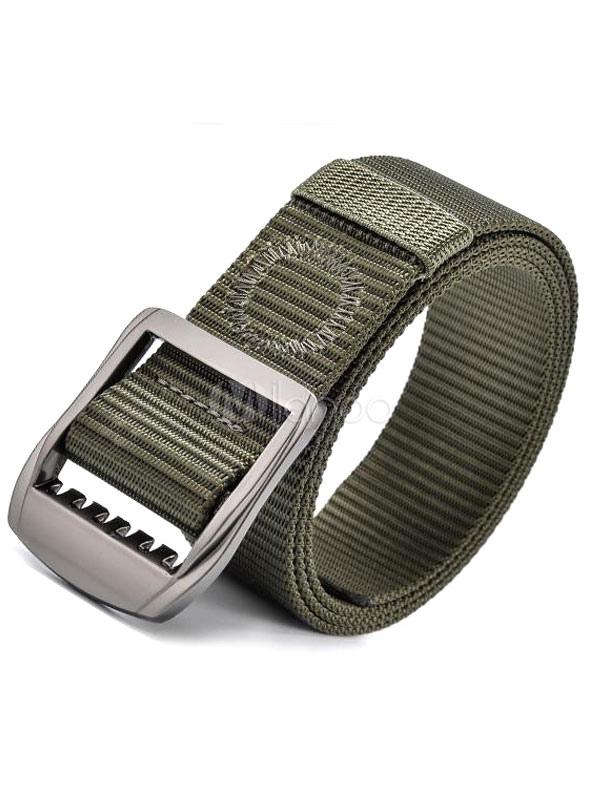 Milanoo / Men's Casual Belt Black/Green Waistband
