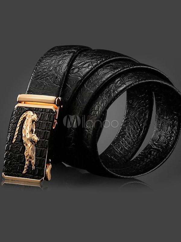 Men's Business Belt Black Casual Waistband