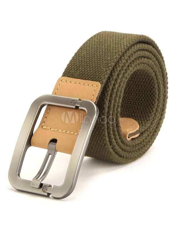 Milanoo / Men's Belt Waistband Casual In Black/Green/Navy/Khaki