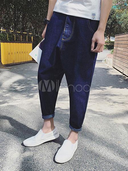 ganz nett hochwertige Materialien Talsohle Preis Herren übergroßen Drop Crotch Jeans Haremshose