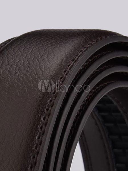 Milanoo / Leather Business Belt Automatic Buckle Waistband For Men