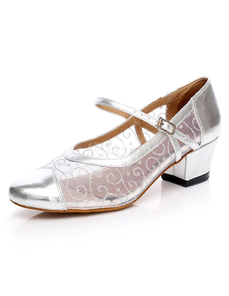 Mary Jane zapatos redes cachorro zapatos de salón de baile redondo LA1JYlUz