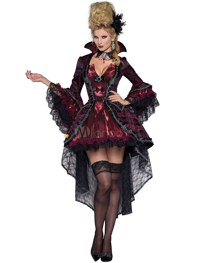 Halloween Vampire Dress Black Evil Gothic Witch Costume Cosplay Halloween