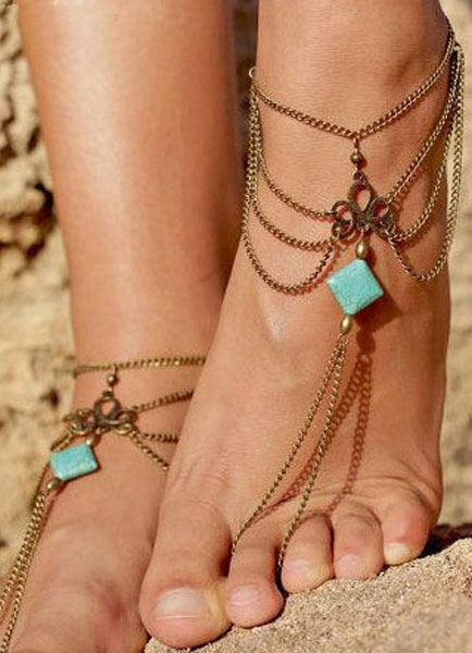 Buy Kallaite Layered Bohemian Anklets for $1.59 in Milanoo store