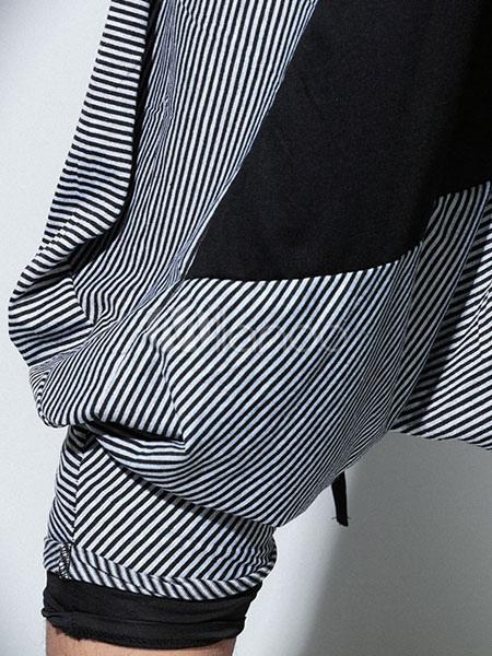... Pantalones largos de algodón con dibujo retazados nudos estilo Hip Hop  -No.6 6ba42e141f8
