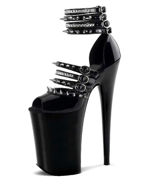 Sexy Sandals Rivets Peep Toe Platform Sandals