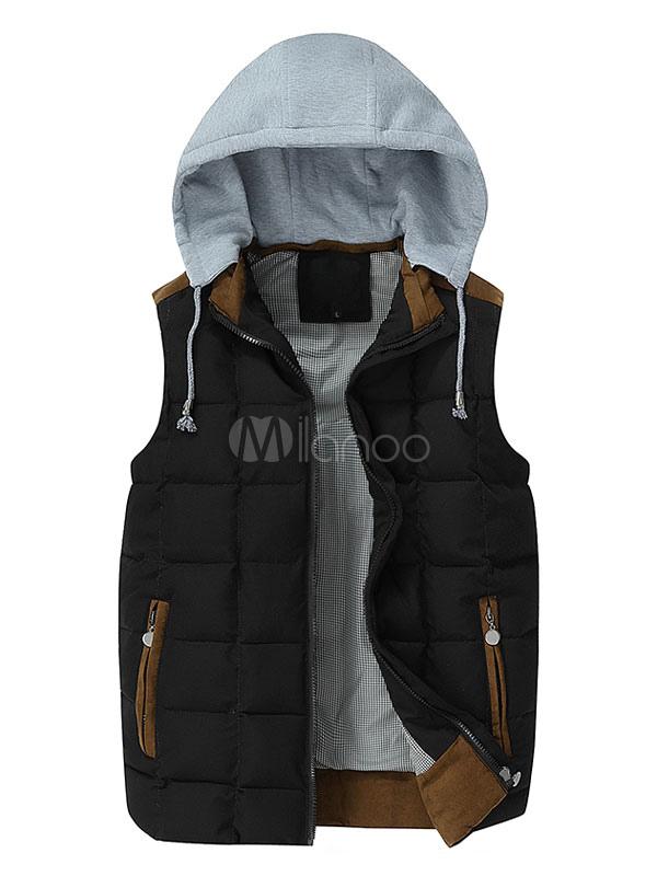 reputable site 150ae f2b82 Gilet con cappuccio cappotto invernale uomo Outwear Giacca