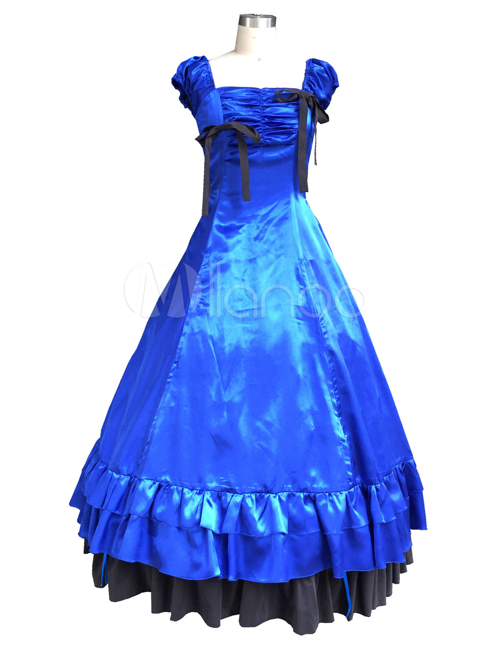 Buy Blue Classic Vintage Lolita Dress Halloween Cosplay Costume Halloween for $111.99 in Milanoo store