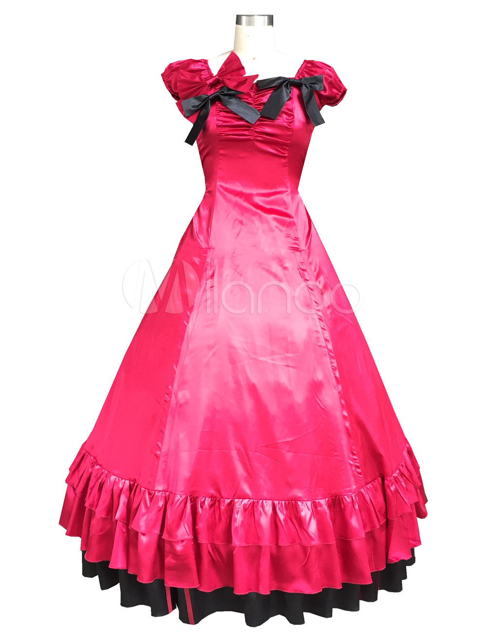 Buy Red Classic Vintage Gothic Lolita Dress Halloween Cosplay Costume Halloween for $111.99 in Milanoo store