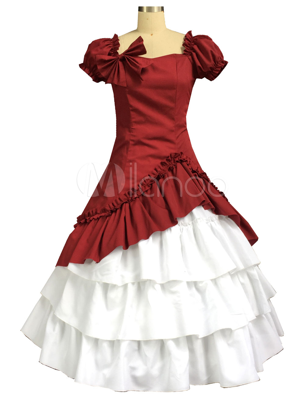 Buy Red Classic Vintage Lolita Dress Halloween Cosplay Costume Halloween for $95.99 in Milanoo store