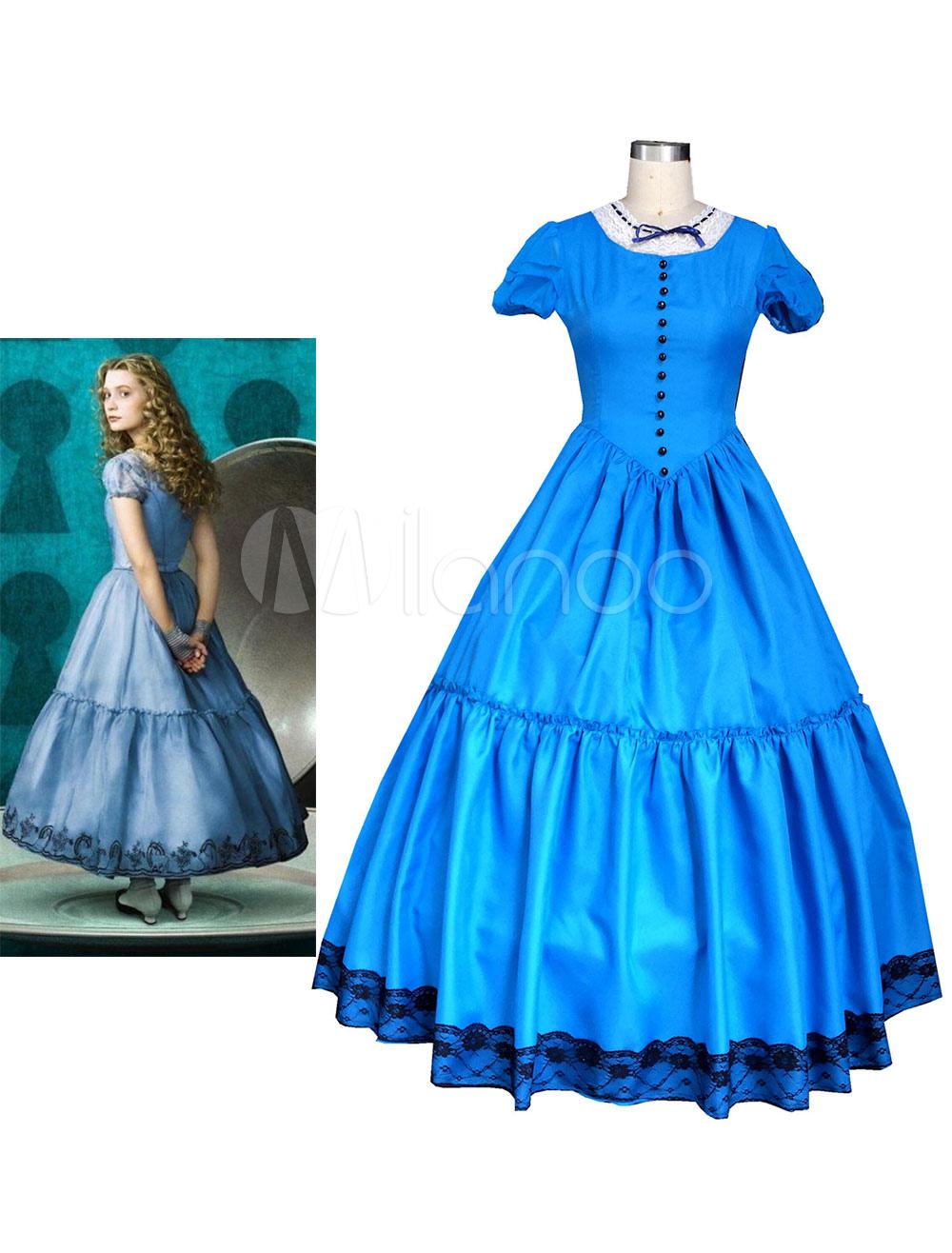 Alice In Wonderland Alice Dress Halloween Cosplay Costume Halloween