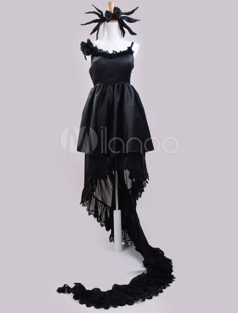 Vocaloid Hatsune Miku Halloween Cosplay Costume Deepsea Girl Version Black Lolita Dress Halloween
