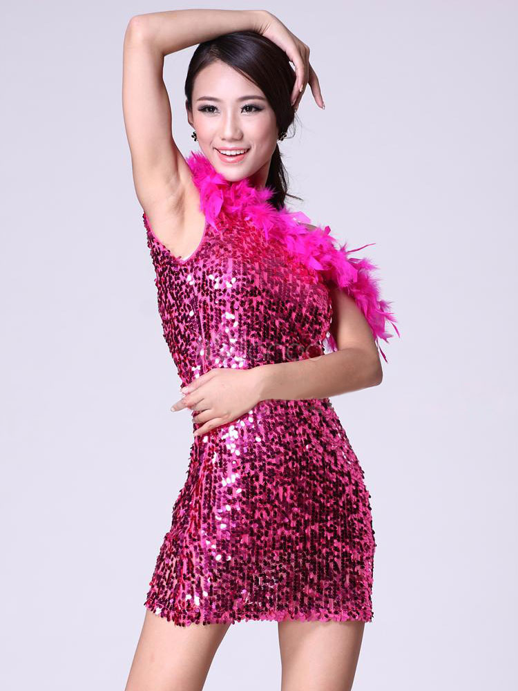 Lentejuelas Vestido de traje de baile Sexy sin respaldo de Mini ...