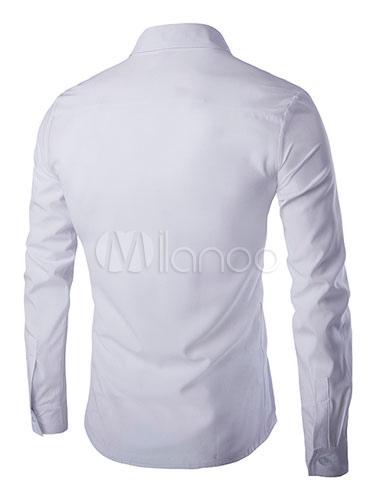 camisa de Negro 3 elegante tira hombres blanca Contrsat No AqnHd6w