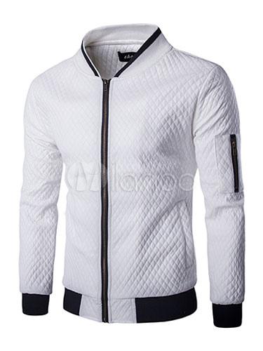 Veste en cuir noir et blanc