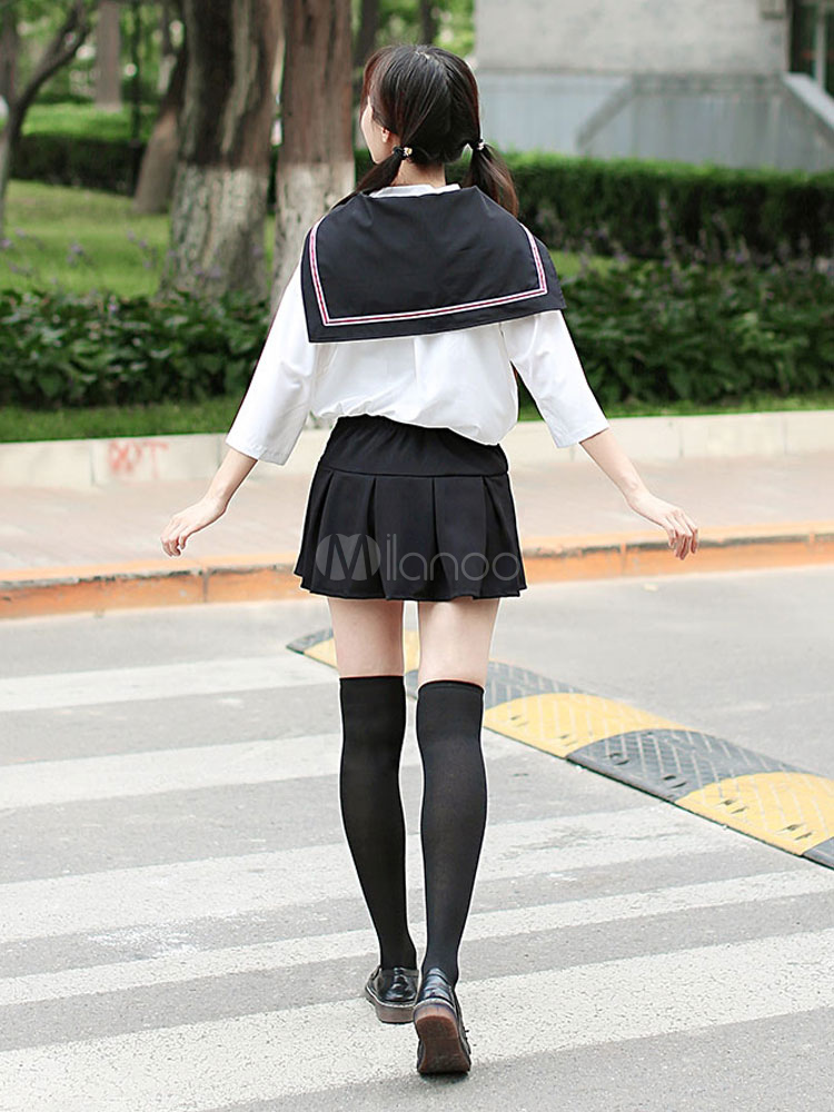 ea156c5fbf ... Sweet School Girl Cosplay Costume Sailor Suit Japanese School Uniform  Halloween-No.3