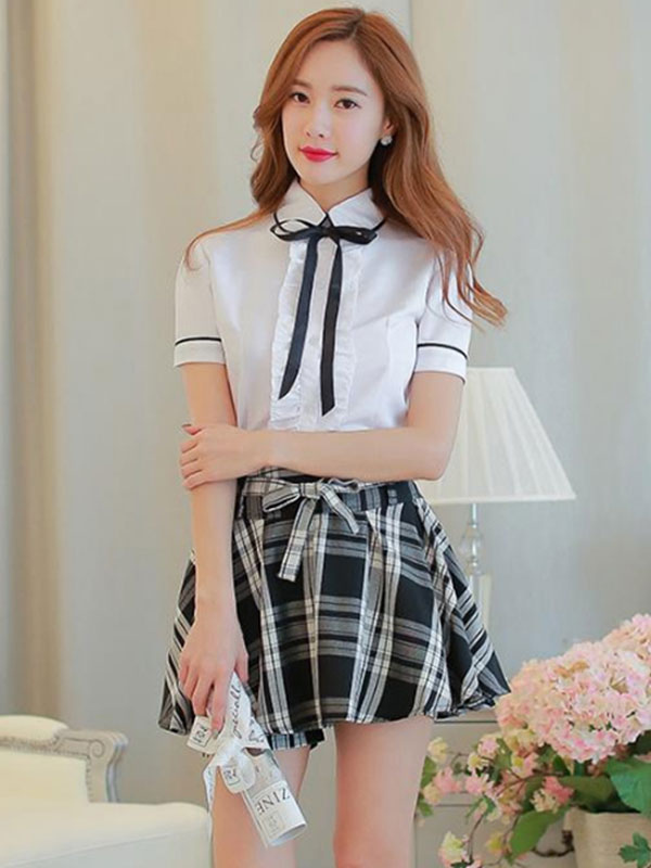 Sweet School Girl Cosplay Costume Sailor Suit Summer School Uniform Halloween