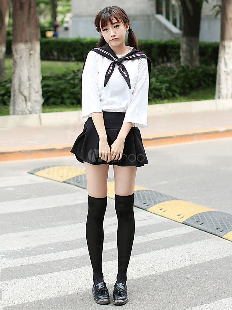 ae97cb5a0c Sweet School Girl Cosplay Costume Sailor Suit Japanese School Uniform  Halloween-No.1 ...