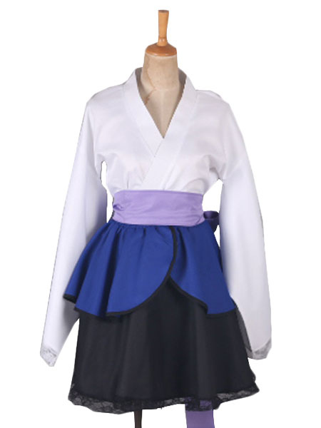 Naruto Shippuden Uchiha Sasuke Female Lolita Kimono Dress Anime Cosplay Costume Halloween