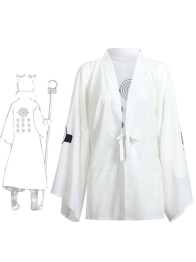 Buy Naruto Shippuden Rikudo Sennin Ootutuki Hagoromo Summer Kimono Anime Cosplay Costume Halloween for $31.49 in Milanoo store