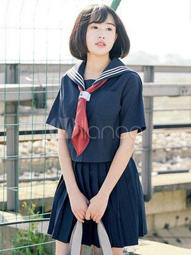 Sweet School Girl Cosplay Costume Spring Japanese School Uniform Halloween