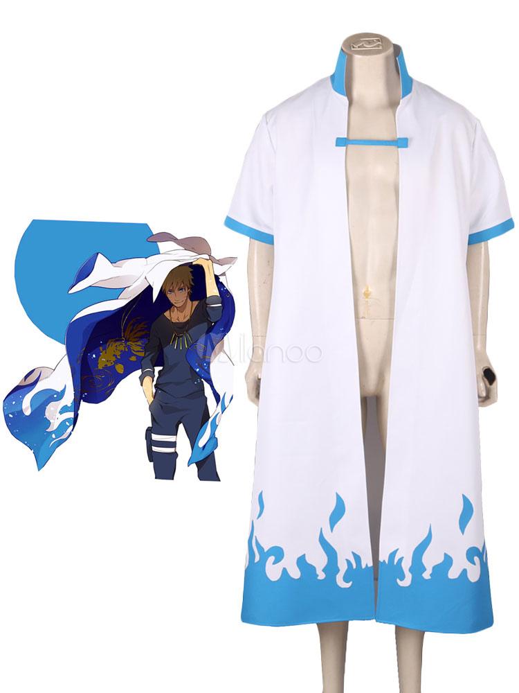 Naruto The 4th Hokage Blue Flame Overcoat Anime Cosplay Costume Halloween