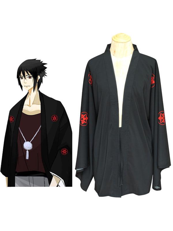 Naruto Shippuden Uchiha Sasuke Summer Kimono Anime Cosplay Costume Halloween
