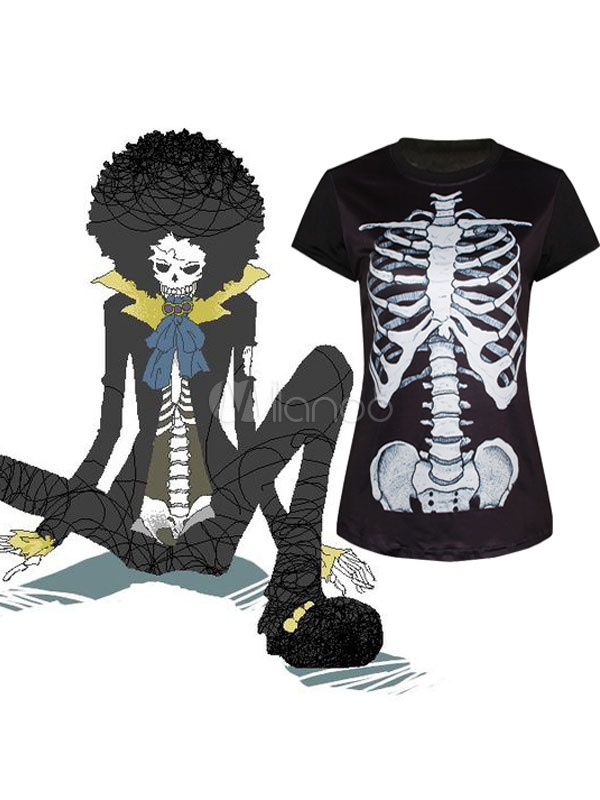 Buy One Piece Dead Bones Brook Underwear T-shirt Anime Cosplay Costume Halloween for $19.31 in Milanoo store