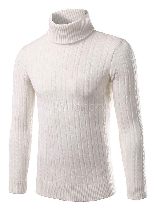 miglior servizio cf920 ff21a Rosso/bianco/grigio/nero sottile maglieria collo alto maglione uomo