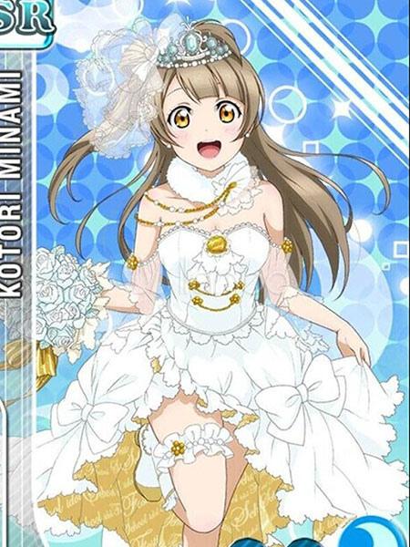 Love Live! Minami Kotori Kawaii Cosplay Costume Wedding Dress Halloween
