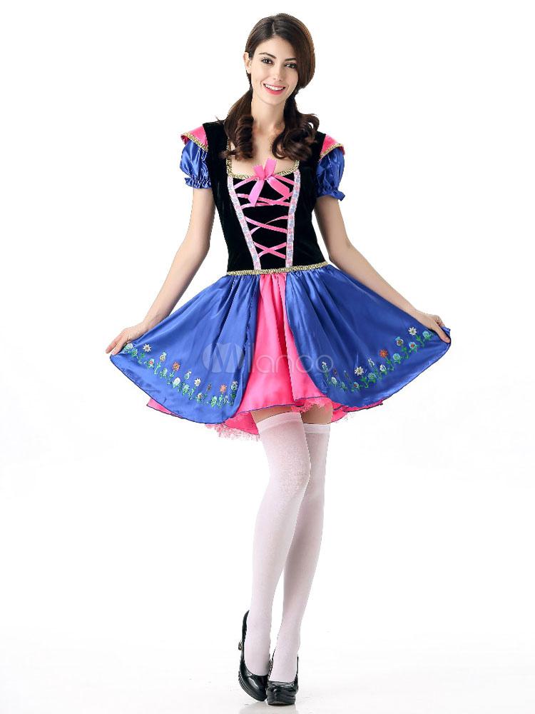 Blaues kleid karneval