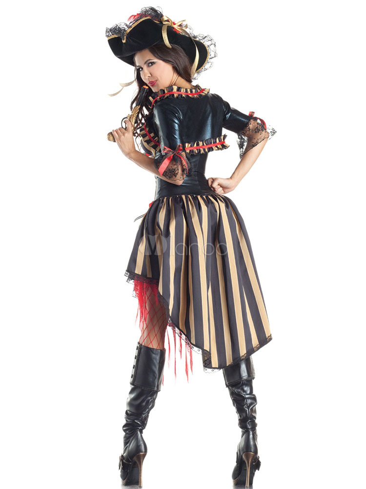 halloween kost m sexy frauen st rzen gestreiften b gen adult pirate kost m kleid. Black Bedroom Furniture Sets. Home Design Ideas
