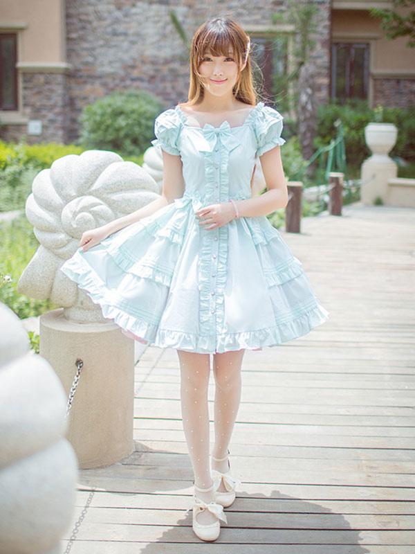 Classical Lolita Dress Layered Ruffles Lolita Dress Short