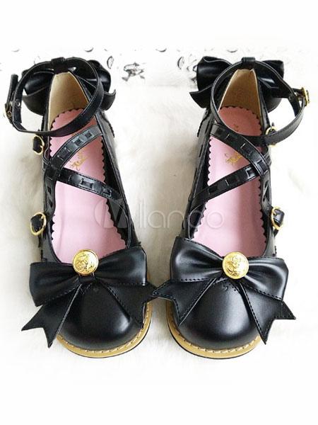 Dulce Lolita zapatos arcos de la Mary Jane Lolita pisos zapatos con tobillera Dt64uxiDK4