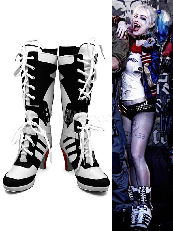 5ba2d8fab81 Batman Suicide Squad Harley Quinn Halloween 2017 Film Cosplay Shoes -No.1  ...