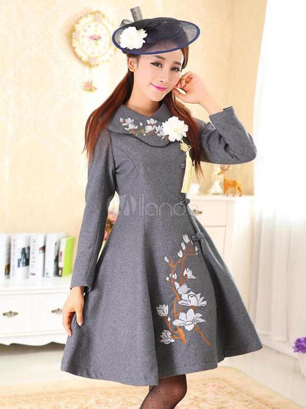 flora de ropa de estilo lolita impreso lana de milanoo de lolita de
