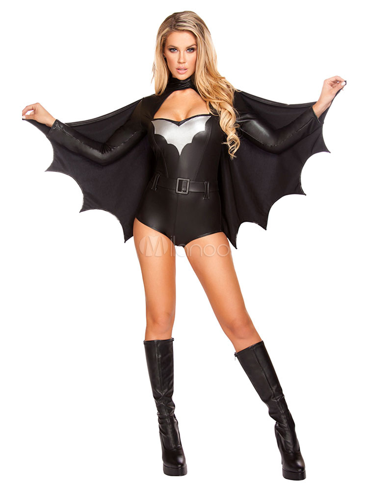 Los Trajes Negro De Batman Halloween Mujer Halloween Milanoocom - Trajes-de-hallowen