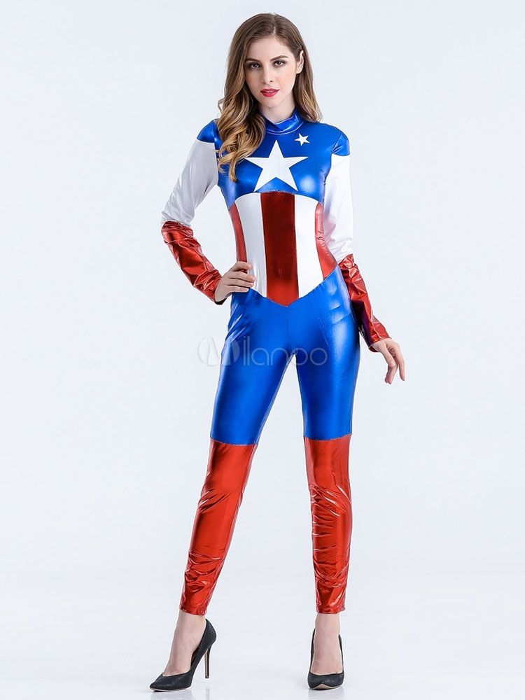 Halloween Adult Supergirl Jumpsuit Costume - Milanoocom-7833
