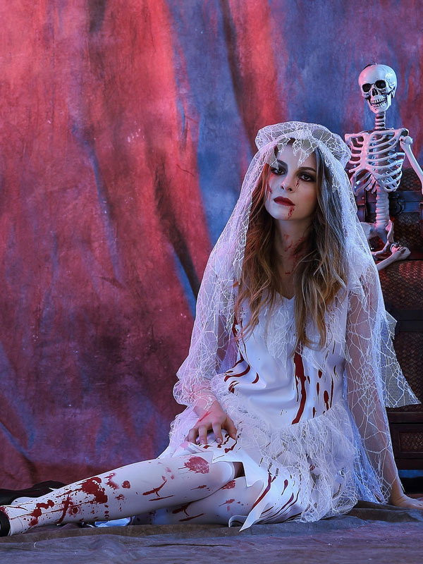 Dead Bride Halloween Costume.Day Of The Dead Costume Halloween Costume Corpse Bride Women S White Dress With Heagear Halloween